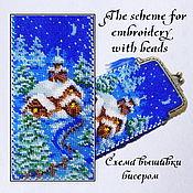 Материалы для творчества handmade. Livemaster - original item The scheme for embroidery with beads Zimushka Zima. Handmade.