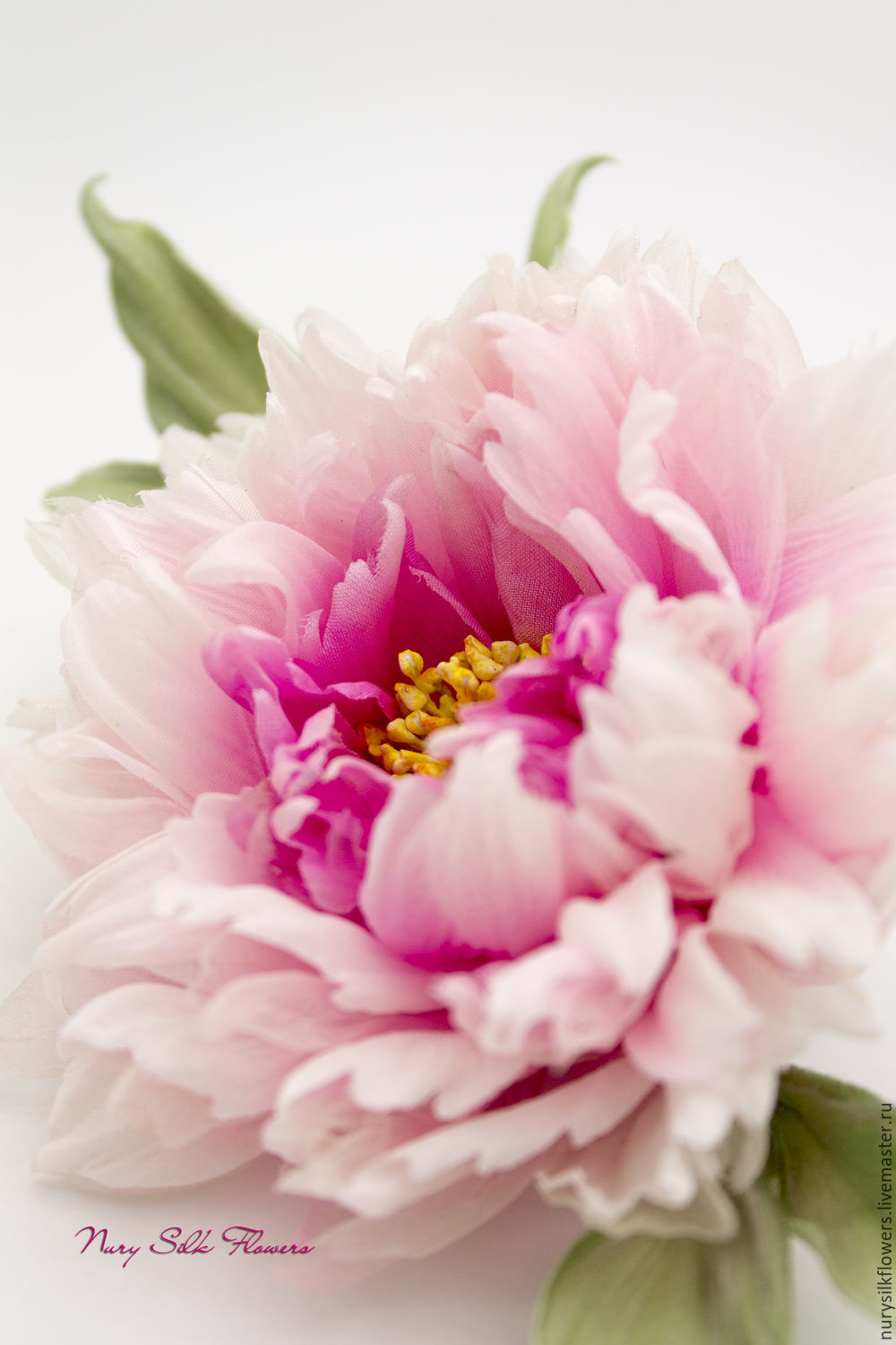 "Silk peony ""Tenderness"", Brooches, Almaty,  Фото №1"