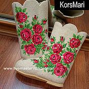 Обувь ручной работы. Ярмарка Мастеров - ручная работа валенки под любой Ваш или Мой платок). Handmade.