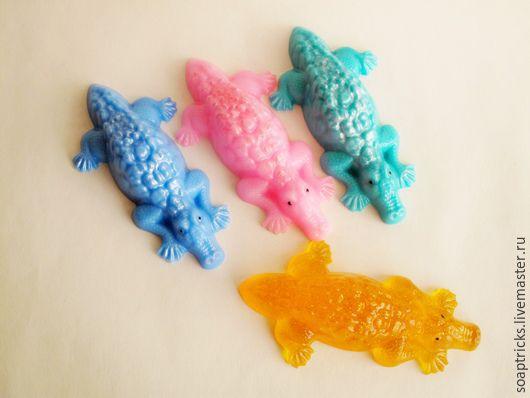 Мыло ручной работы. Ярмарка Мастеров - ручная работа. Купить Мыло Крокодильчик. Handmade. Комбинированный, мыло сувенирное