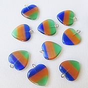 Материалы для творчества handmade. Livemaster - original item Heart pendant pendant, Glass pendants for Jewelry. Handmade.