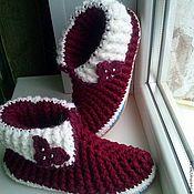 Обувь ручной работы. Ярмарка Мастеров - ручная работа домашняя обувь ботики нарядные. Handmade.