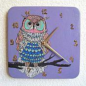 Для дома и интерьера handmade. Livemaster - original item Wall clock Owl clock handmade. Handmade.