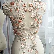 Материалы для творчества handmade. Livemaster - original item Beautiful lace embroidery, mirror pattern. Handmade.