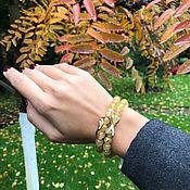 Украшения handmade. Livemaster - original item Set of bracelets made of quartz hair stone. Handmade.
