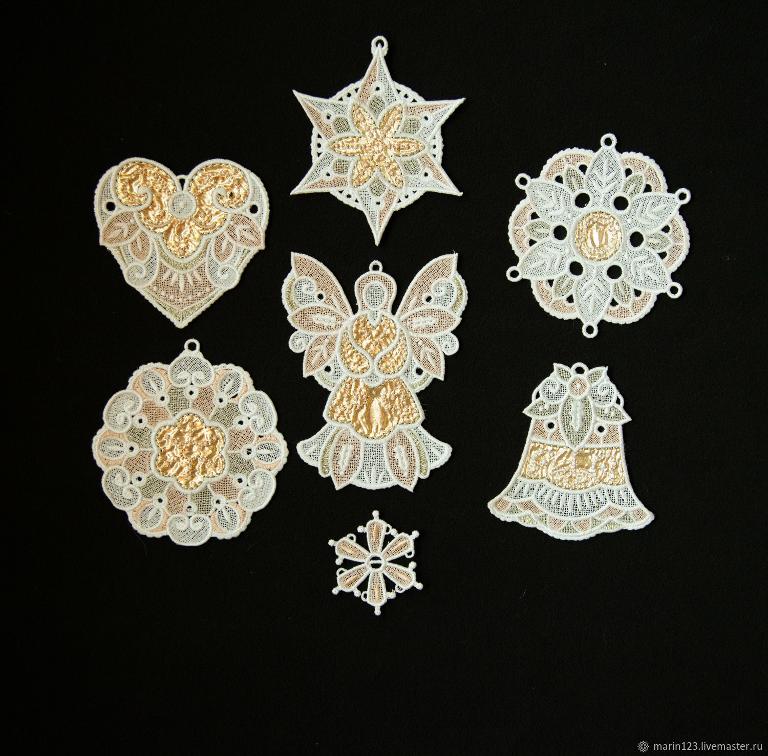New year in gold dress 2. A set of Christmas ornaments, Christmas decorations, Samara,  Фото №1