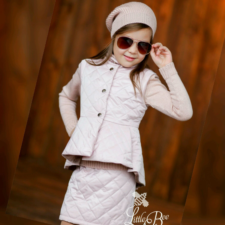 Весенний стеганый комплект: жилет и юбочка, Одежда, Пенза, Фото №1