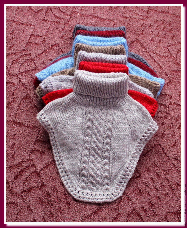 Манишка для мальчика спицами, схема вязания для 13