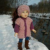 Куклы и игрушки ручной работы. Ярмарка Мастеров - ручная работа Комбинированное пальто для куклы. Handmade.