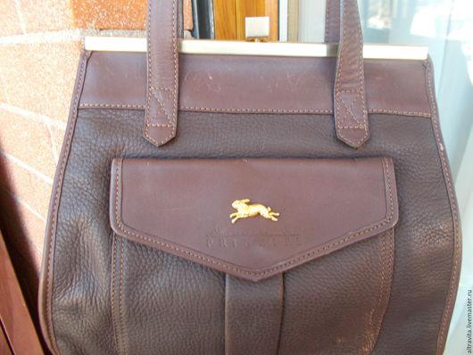 Винтажные сумки и кошельки. Ярмарка Мастеров - ручная работа. Купить Сумка с зайцем  винтаж, Италия. Handmade. Коричневый, сумочка