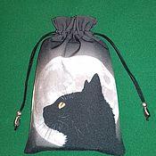 """Фен-шуй и эзотерика ручной работы. Ярмарка Мастеров - ручная работа Мешочек для карт таро """"Черная кошка"""". Handmade."""