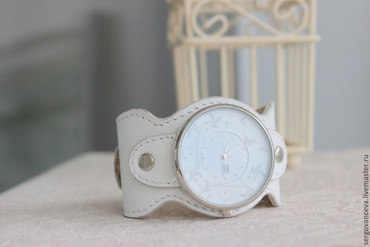 """Часы ручной работы. Ярмарка Мастеров - ручная работа. Купить Часы наручные """"Летняя пора 2"""". Handmade. Белый"""