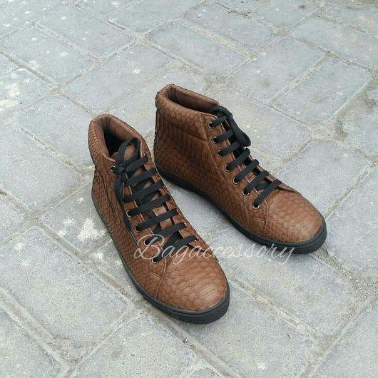 Обувь ручной работы. Ярмарка Мастеров - ручная работа. Купить Кеды из натуральной кожи питона. Handmade. Кеды
