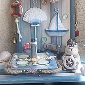 """Для дома и интерьера ручной работы. Ярмарка Мастеров - ручная работа Подсвечник """"Круиз""""на 4 свечи. Handmade."""