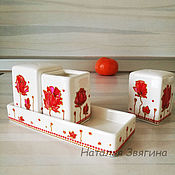Посуда handmade. Livemaster - original item Spice set, hand painted. Salt and pepper shakers. Handmade.