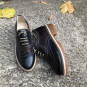 Обувь ручной работы handmade. Livemaster - original item Oxford shoes chocolate/black. Handmade.
