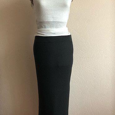 Одежда ручной работы. Ярмарка Мастеров - ручная работа Облегающая юбка-лапша длины миди. Handmade.