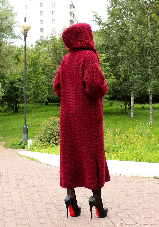 требуется уход, пальто вязаные с капюшоном модели фото духовная практика