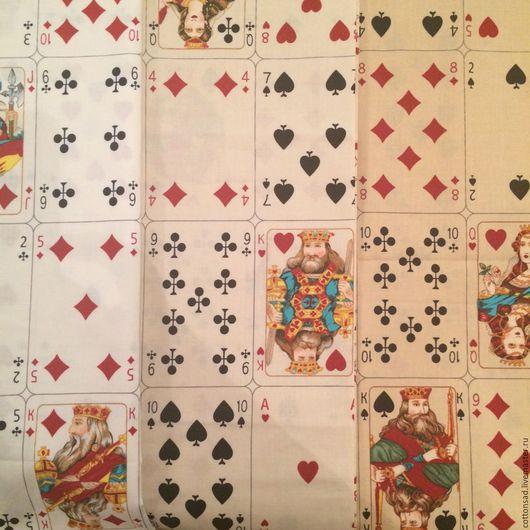 """Шитье ручной работы. Ярмарка Мастеров - ручная работа. Купить Хлопок для пэчворка. (3цвета) """"Колоды Карт"""". Американские ткани.. Handmade."""