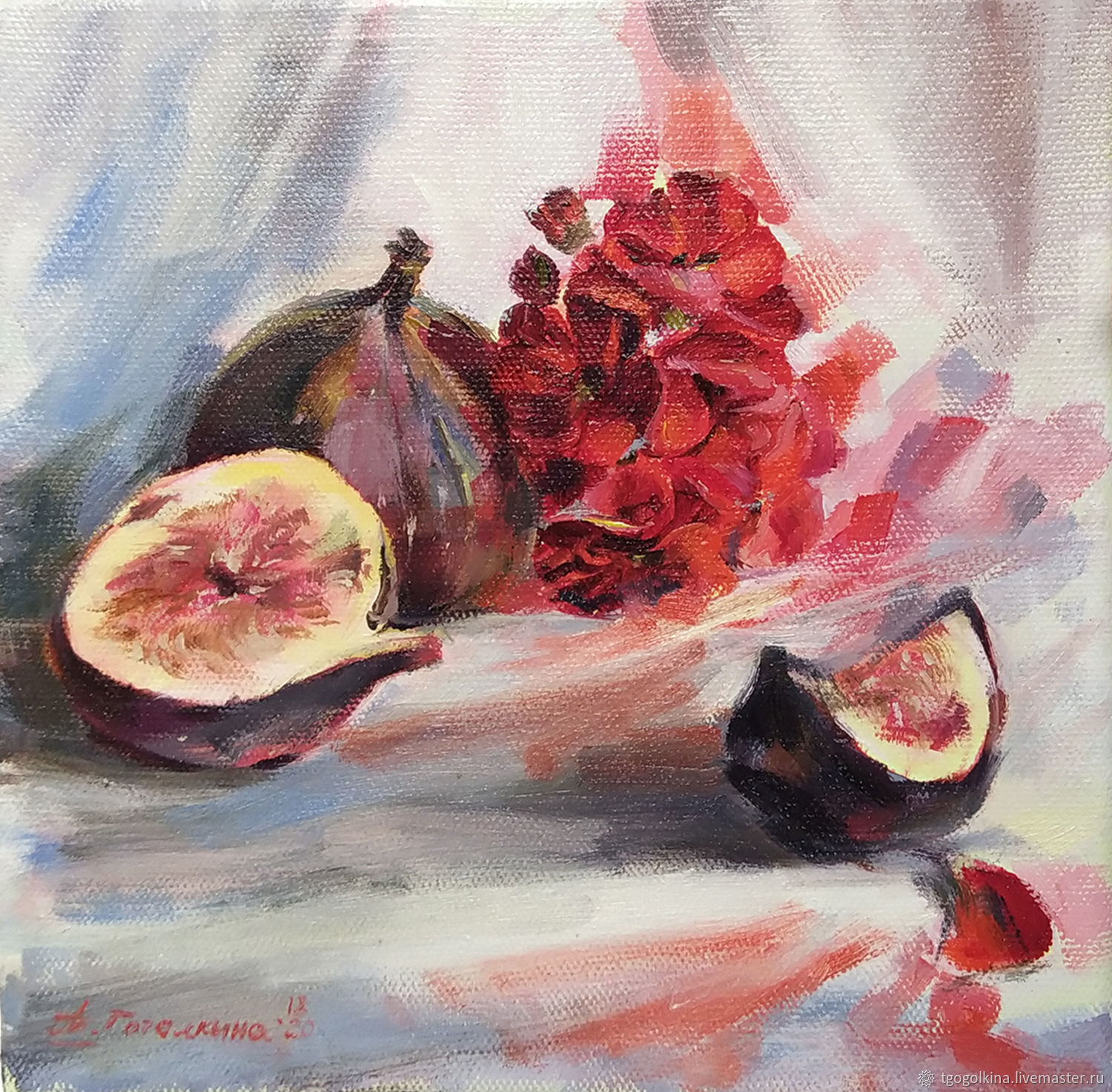 Author's oil painting ' still Life with figs', Pictures, Moscow,  Фото №1