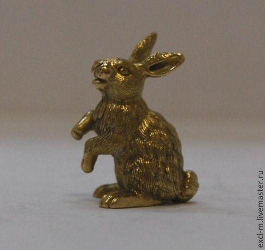 """Миниатюра ручной работы. Ярмарка Мастеров - ручная работа. Купить Статуэтка """"Кролик"""". Handmade. Кролик, Год Кролика, зайчик, бронза"""