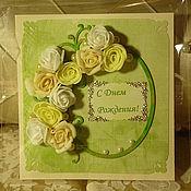 Открытки ручной работы. Ярмарка Мастеров - ручная работа Парижская зелень. Handmade.