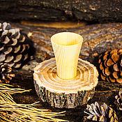 Посуда handmade. Livemaster - original item Wooden Glass Siberian Cedar Shot a Stack of drink Wood #R4. Handmade.