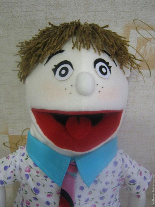 Кукольный театр ручной работы. Ярмарка Мастеров - ручная работа. Купить кукла на руку маппет мальчик. Handmade. Белый