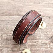 Украшения ручной работы. Ярмарка Мастеров - ручная работа Браслет кожаный затяжной коричневый. Handmade.