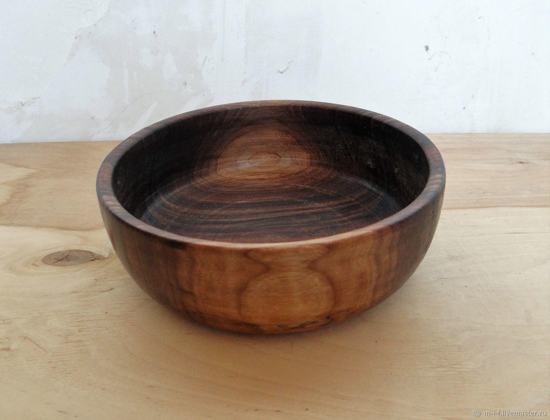Тарелка-миска из массива грецкого ореха(20х14,5х6), Тарелки, Бахчисарай,  Фото №1