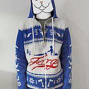 """Одежда ручной работы. Ярмарка Мастеров - ручная работа Свитер """"Фарго"""" на молнии с капюшоном. Handmade."""