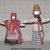 Кукла-оберег ручной работы. Ярмарка Мастеров - ручная работа Семейный оберег Сёмик с Семичихой. Handmade.