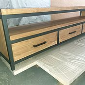 Для дома и интерьера handmade. Livemaster - original item thumbs: Oak Cabinet for TV Loft. Handmade.