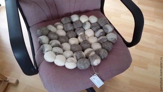 """Текстиль, ковры ручной работы. Ярмарка Мастеров - ручная работа. Купить коврик валяный массажный """" Морская галька"""". Handmade."""