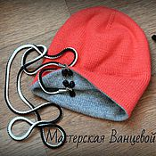 Материалы для творчества handmade. Livemaster - original item MK-dual description two-tone bilateral seamless caps. Handmade.