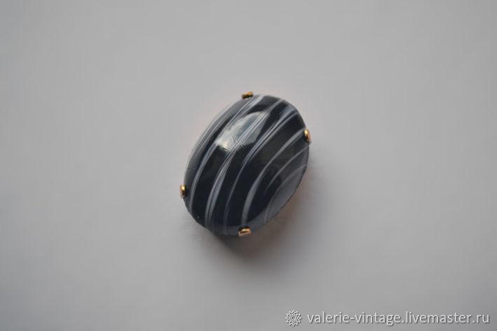 Vintage rhinestones 25h18 mm color Bllack strip, Rhinestones, Moscow,  Фото №1