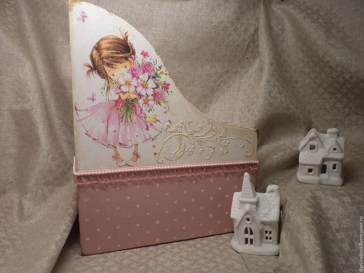Журнальницы ручной работы. Ярмарка Мастеров - ручная работа. Купить Журнальница Принцесса на горошке. Handmade. Бледно-розовый, горошек