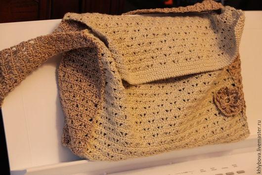 Женские сумки ручной работы. Ярмарка Мастеров - ручная работа. Купить Сумочка х/б. Handmade. Бежевый, сумка через плечо