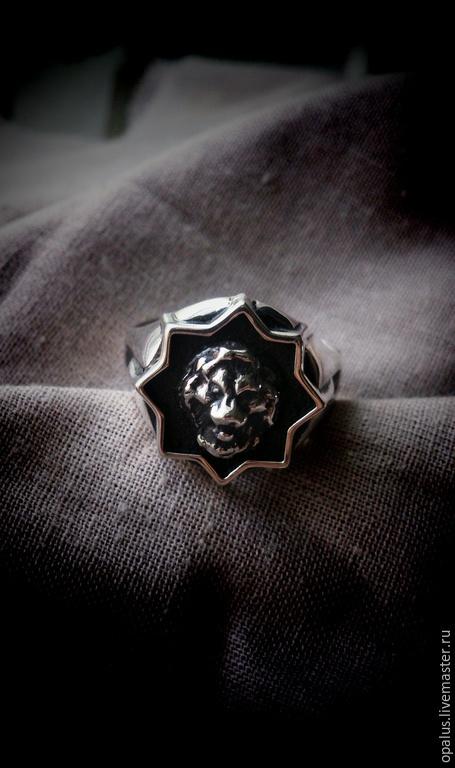 """Украшения для мужчин, ручной работы. Ярмарка Мастеров - ручная работа. Купить Перстень """"Lion"""". Handmade. Серебряное кольцо, мужское кольцо"""