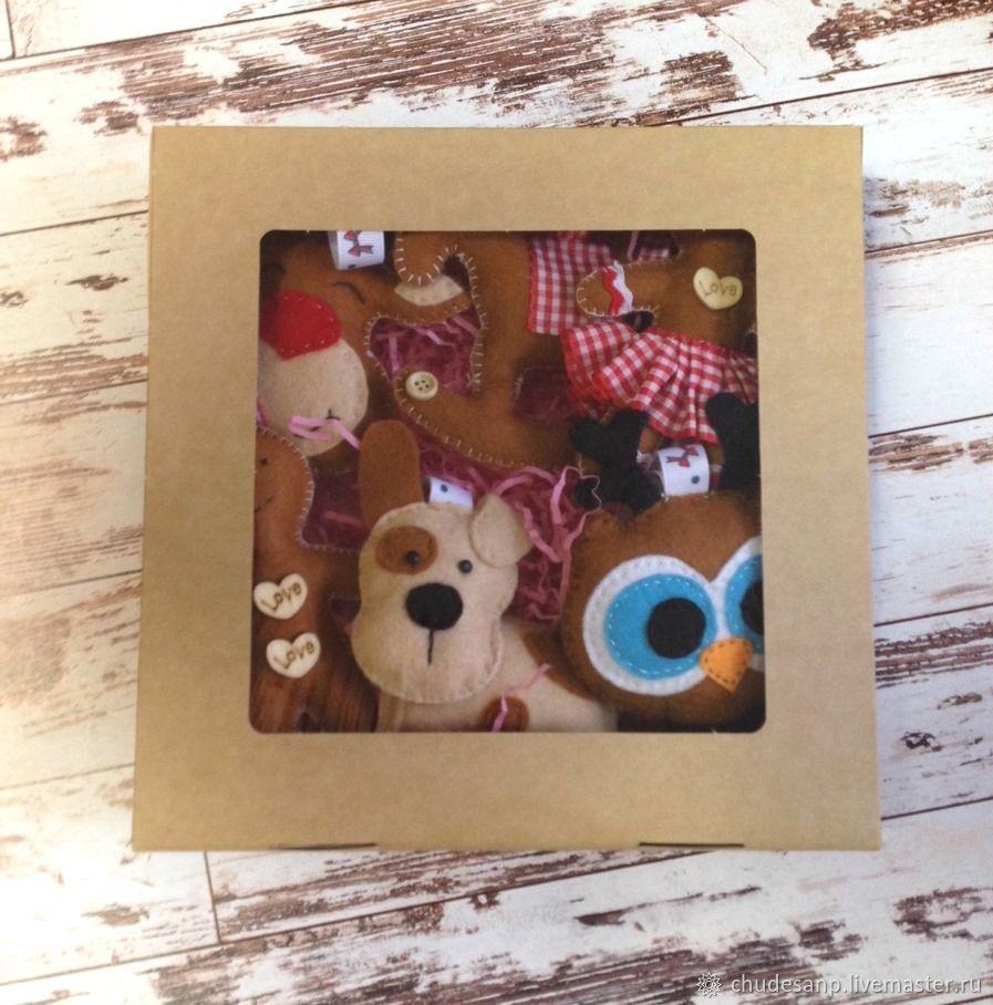 Новогодние игрушки из фетра (Набор №3)