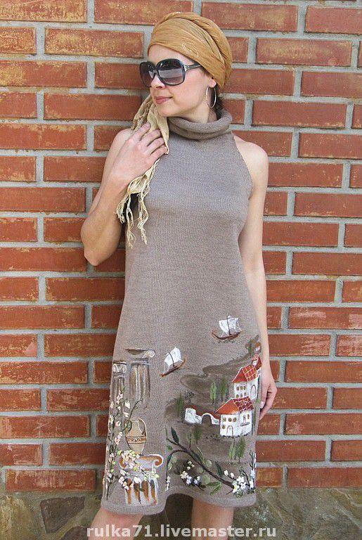 """Платья ручной работы. Ярмарка Мастеров - ручная работа. Купить платье """" Паллада"""". Handmade. Греция, платье вязаное"""