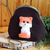 Сумки и аксессуары handmade. Livemaster - original item Bag with a Fox on the clasp. Handmade.