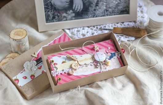 """Подарки для влюбленных ручной работы. Ярмарка Мастеров - ручная работа. Купить Чековая книжка желаний """"Розовая полоска"""". Handmade. Розовый"""