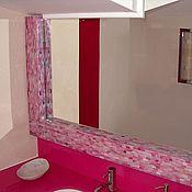 Для дома и интерьера ручной работы. Ярмарка Мастеров - ручная работа Зеркало в мозаичной раме, розовый жемчуг. Handmade.