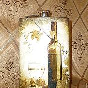 """Сувениры и подарки ручной работы. Ярмарка Мастеров - ручная работа Фляжка """"Бокал вина"""". Handmade."""