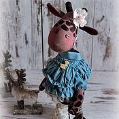 Куклы и игрушки ручной работы. Ярмарка Мастеров - ручная работа Жирафа Индиго). Handmade.