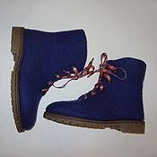 """Обувь ручной работы. Ярмарка Мастеров - ручная работа зимние ботинки """"синий вечер"""". Handmade."""