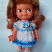 Куклы и игрушки ручной работы. Ярмарка Мастеров - ручная работа платье вязаное для куклы гдр, ссср. Handmade.