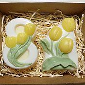Косметика ручной работы. Ярмарка Мастеров - ручная работа Подарочный набор на 8 марта с тюльпанами. Handmade.