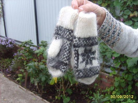 Варежки, митенки, перчатки ручной работы. Ярмарка Мастеров - ручная работа. Купить Варежки и перчатки  детские из козьего пуха. Handmade.